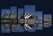 Sydney Digital Art - Sydney Harbour Collage by Sheila Smart