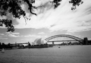 Wales Posters Prints - Sydney Harbour Print by Heike Hellmann-Brown