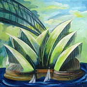 Affordable Prints Posters - Sydney Harbour I Poster by Yelena Dyumin
