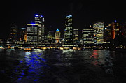 Harbour Pyrography Prints - Sydney harbour skyline Print by Jacques Van Niekerk