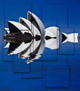 Sydney Digital Art - Sydney Opera House collage by Sheila Smart