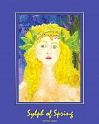 Goddess Posters Prints - Sylph of Spring Poster Print by Shelley Bain