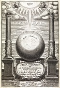Black And White Symbolism Art - Sylva Sylvarum Title Page, 1627 by Middle Temple Library