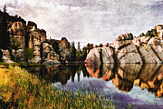 Black Hills Framed Prints - Sylvan Lake - Black Hills Framed Print by Ellen Lacey