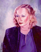 John Keaton Paintings - Sylvia Schneider by John Keaton