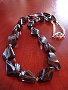 Citrine Jewelry - Sylvia Smoky Topaz Necklace by MIchelle LaCoille