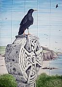 Bird Ceramics Posters - Symbols of Cornwall Poster by Venessa Lagrand