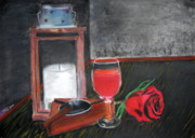 Wine Glass Pastels - Symbols of desire by Natalia Tyorlo