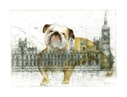 London Prints Posters - Symbols of Strength Poster by Barbara Anna Cichocka