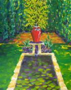 Rill Paintings - Symmetrical Garden by Leigh Ann Inskeep-Simpson