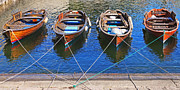 Rowing Boats Prints - Symmetry Print by Joana Kruse