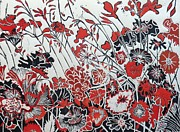 Printmaking Mixed Media - Symphony in Red by Belinda Nye