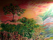 Aphrodite Paintings - Symphony Of Rainbow Tree by Catherine Herbert