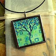 Acrylic Necklace Jewelry - Synergy Tree by Dana Marie