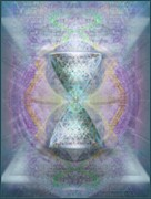Chalicebridge.com Posters - SyntheSphered Grail on Caducus Blazed Tapestrys Poster by Christopher Pringer