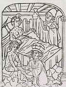 Std Prints - Syphilis In Europe.  A Woman In Bed Print by Everett