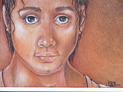 African-american Drawings - System Child by Jane Jolly Chappell