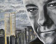 New Jersey Painting Posters - T and the WTC Poster by Eric Dee