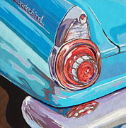 Route 66 Paintings - T-Bird by Sandy Tracey