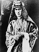 British Portraits Framed Prints - T. E. Lawrence 1888-1935. As A British Framed Print by Everett