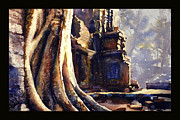 Angkor Paintings - Ta Prohm Khmer temple in Cambodia by Ryan Fox