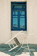 Table White Framed Prints - Table And Chair Framed Print by Joana Kruse