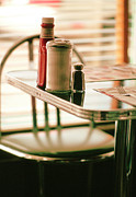 Salt And Pepper Art - Table At Diner by Pierre Desrosiers