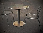 Empty Chairs Art - Table For None by Odd Jeppesen
