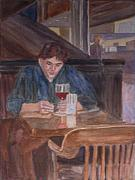 Gentleman Paintings - Table for One by Jenny Armitage