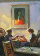 Dining Paintings - Table for Three by Fredric Michael Wood
