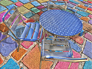 Round Table Prints - Table For Three Print by Paul Wear