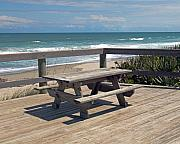 Melbourne Beach Framed Prints - Table for you in Melbourne Beach Florida Framed Print by Allan  Hughes