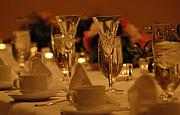 Champagne Glasses Photos - Table is set by Michael  Albright
