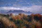 Enver Larney Art - Table Mountain from Blouwbergstrand Cape Town South Africa 1999 by Enver Larney