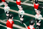 Miniatures Metal Prints - Table soccer Metal Print by Gaspar Avila