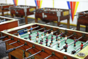 Games Room Framed Prints - Table soccer tables Framed Print by Gaspar Avila