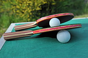 Table Tennis Racket Framed Prints - Table Tennis Rackets Framed Print by Sami Sarkis