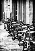Outdoor Cafe Photo Prints - Tables on St Germain Print by John Rizzuto