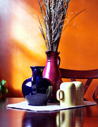 Blue And Orange Photos - Tabletop by Peter Chilelli