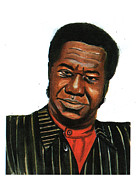 Vocalist Drawings Framed Prints - Tabu Ley Rochereau Framed Print by Emmanuel Baliyanga