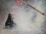  Hockey Painting Framed Prints - Tacks Framed Print by Ron  Genest