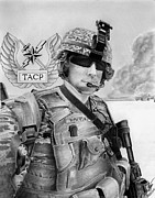 Usaf Drawings Posters - Tacp Poster by Lyle Brown