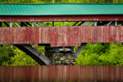 Counties Framed Prints - Taftsville Bridge Framed Print by Susan Cole Kelly
