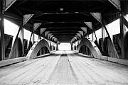 Covered Bridge Art Prints - Taftsville Covered Bridge Print by Greg Fortier