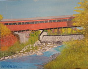 Covered Bridge Paintings - Taftsville Covered Bridge IV by Jack McKenzie