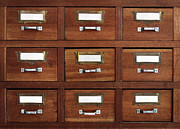 Cabinet Framed Prints - Tagged Drawers Framed Print by Carlos Caetano