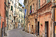 Streets Metal Prints - Taggia in Liguria Metal Print by Joana Kruse