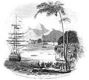 Islander Framed Prints - Tahiti: Missionaries, 1797 Framed Print by Granger