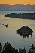 Queen Photos - Tahoe Queen steaming into Emerald Bay by Matt MacMillan
