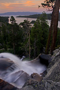 Rushing Water Prints - Tahoe Sunrise Print by Dave Dilli
